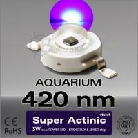 LED-3W-Super-Actinic-420nm-Bridgelux