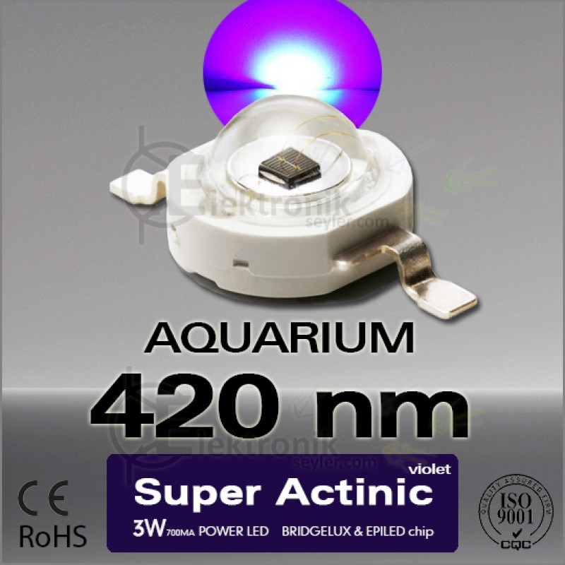LED-3W-Super-Actinic-420nm-Bridgelux
