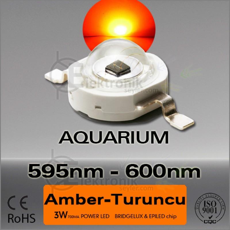 LED-3W-Turuncu-595nm-Bridgelux